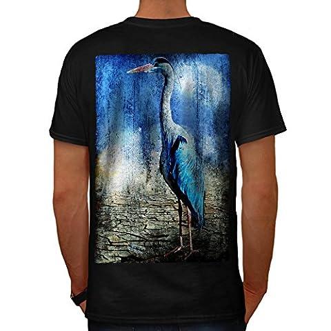 Oiseau Sauvage désert Animal Mignonne Oiseau Homme XL T-shirt le dos | Wellcoda