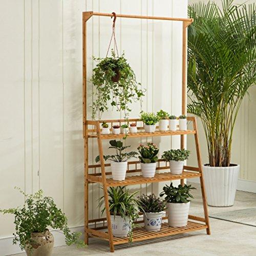 Bambus-Blumen-Rack, Multi-Tier, suspendiert, Balkon-Blumentopf-Rack, Multifunktions-Pflanzenständer ( größe : 100cm-A )