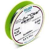 """Felder Fil de Soudure ISO-Core """"Clear"""" 0.5mm 0.1kg Sn100Ni+ Sn99,3CuNiGe"""
