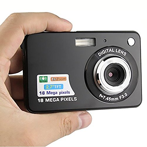 Compact-digital-Camera-Digitallife-27-inch-TFT-LCD-8x-Digital-Zoom-HD-720P-18-Mega-Pixels-Video-Camcorder-With-2GB-Memory-Card-and-Battery-for-KidsAdult-and-School-Students
