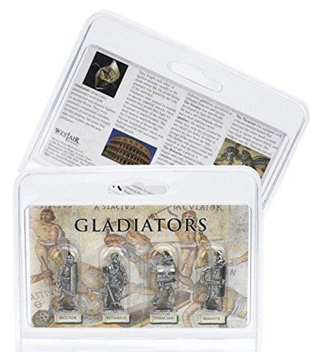 Gladiator Figuren (setzen von 4unterschiedlichen, die: Protektor Secutor, retarius, Thrakische und Samnite)