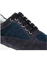 Hogan Scarpe Sneakers Bimbo Bambino camoscio Nuove Interactive Blu 685c0a7819f