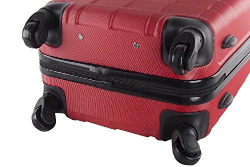 Maleta rígida PIERRE CARDIN rojo equipaje medio 4 ruedas VS259