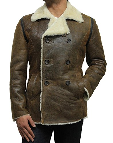 GERMAN PEA COAT Original Rust Brown Schaffell