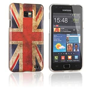 Tinxi® Custodia case in silicone e TPU per Samsung Galaxy S2 i9100 case cover protettivo concezione speciale con motivo bandiera britannica