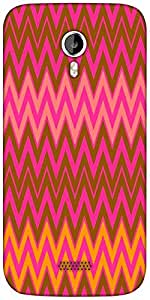 Snoogg Wave Patterns Designer Protective Back Case Cover For Micromax A116