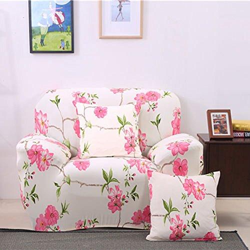 Hshduti fodera per copridivano imbottita per mobili con rivestimento in tessuto rosa per 1 2 3 4 posti 2 seater