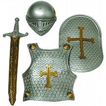 Idena 8210418 - Armatura da cavaliere per bambini, 4 pezzi