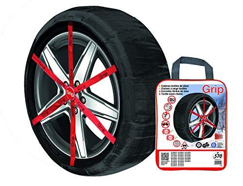 VIP 842034513057 Schneekette Textil Grip, 2er Set