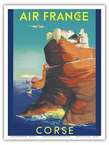 corse-corsica-air-france-bonifacio-france-vintage-airline-travel-poster-by-raoul-ric-castel-c1949-ma