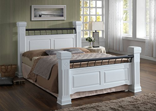Rolo Kingsize Bed available in light oak or white
