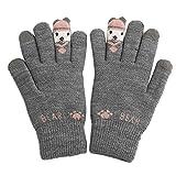 OSYARD Damen Handschuhe Wollhandschuhe Winterhandschuhe Armwärmer Gestrickte Handwärmer Pulswärmer, Frauen Herbst Winter Warme StrickenHandschuhe Fäustlinge für Frauen Mädchen in Schwarz und Grau