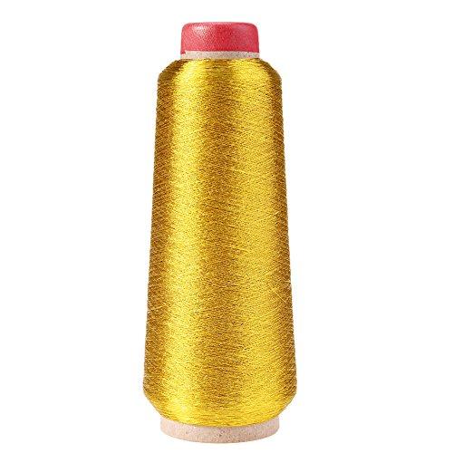 Broadroot Computer Kreuzstich Stickgarn Nähgarn Textil Metallic Garn gewebt Stick Garn (Gold)