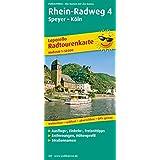 Rhein-Radweg 4, Speyer - Köln: Leporello Radtourenkarte mit Ausflugszielen, Einkehr- & Freizeittipps, wetterfest, reissfest, abwischbar, GPS-genau. 1:50000