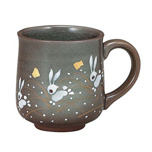 Kutani Teppanyaki de Salto Conejos cerámica té café taza de mano fabricado en Japón K4–861