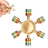 AUKWING 6 Point Hexagon Fidget Hand Spinner Toys...