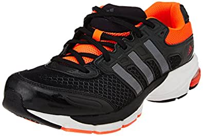 adidas Men's Lightster Cush M Carbon Black, Metallic Neo Iron and Solar Red Mesh Running Shoes - 6 UK