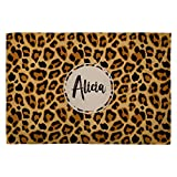 Lolapix Weiche Decke mit Namen personalisiert. Tierdruck. Verschiedene Größen und Ausführungen. Leopard