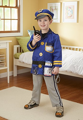 Imagen de melissa & doug  disfraz de agente de policía para niños 14835  alternativa