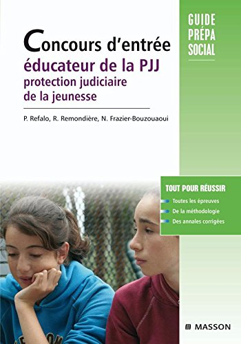 Concours d'entrée éducateurs de la PJJ. Protection judiciaire de la jeunesse: POD