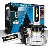 NOVSIGHT Ampoules H4 LED Phare de Voiture 10000LM 50W Kit de Conversion Ampoules pour Voiture Auto 6500K Blanc Etanche