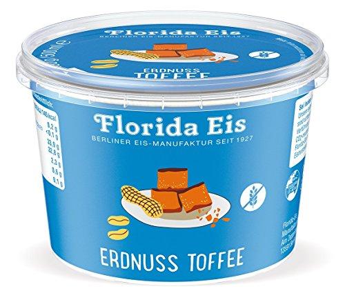 Preisvergleich Produktbild Eiscreme Florida Eis Erdnuss Toffee - Familienpackung - 500ml
