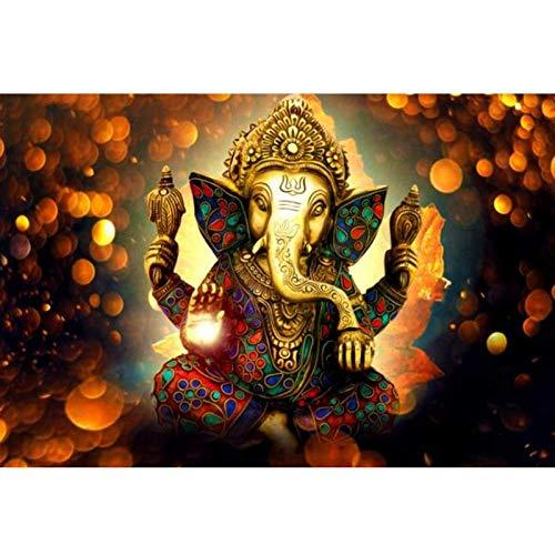 nr Lord Ganesha Leinwand Gemälde an der Wand Klassische Hindu-Götter Poster und Drucke Hinduismus Dekorative Bilder Für Wohnzimmer -50x75cm Rahmenlos