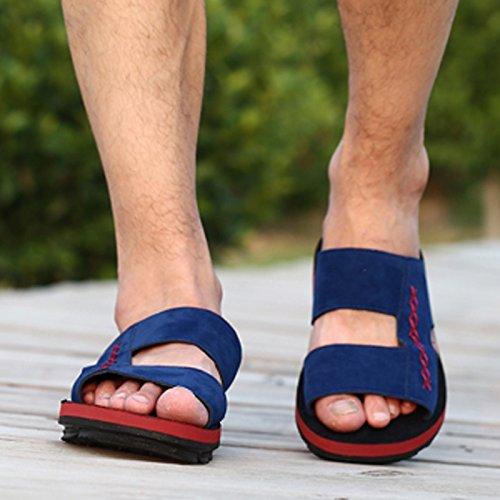 Mens casual chaussons dété, hommes, Han beach hommes, RDP, chaussons, chaussons pour hommes Mens chaussons Royal Blue