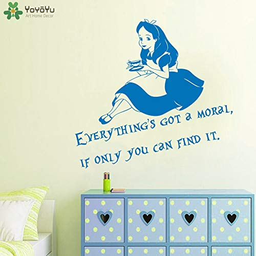 fancjj Stickers For Room Everything Got Moral Wall Tea Art Baby DIY 44x42cm for bedrooms boys under girls kids living room butterflies tree kitchens letters