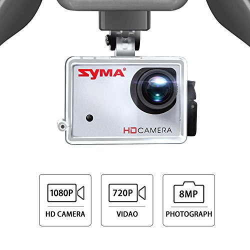 Syma X8HG (Upgrade Syma X8G) 2,4 GHz 6-Achsen-Gyro RC Ferngesteuerte Quadcopter Drone Quadrocopter Drohne mit 8MP HD-Kamera Einen Höhenstabilisator-Rote - 2