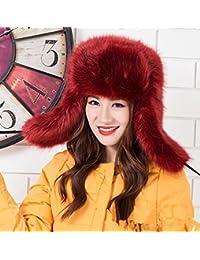 MHGAO Bizzarro Ushanka Inverno Caldo Ispessimento Antivento Cappello  Esterno per Le Signore 5c6f490a8aff