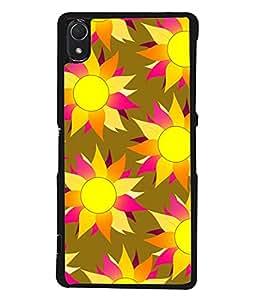 PrintVisa Designer Back Case Cover for Sony Xperia Z3 :: Sony Xperia Z3 Dual D6603 :: Sony Xperia Z3 D6633 (Sunflower Sun Flower Printed Phool Poster Light)