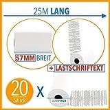 20 x EC Cash Thermorollen mit Sepa-Lastschrifttext | B: 57mm – DM: 40mm - Kern DM: 12mm – L: 18m für Ingenico ict220 ict250 iwl250 und alle anderen EC-Cash-Thermodrucker