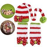 NUOLUX Disfraz Fotografía Props Crochet Sombrero y Ropa para Bebé en Navidad Día
