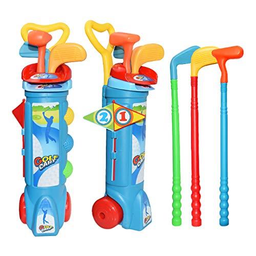 Dapei Kinder Spielzeug Golf Set Kunststoff Mini Putter Club Caddy Balls Sommer Spaß Spielen Sport für Kinder (A)