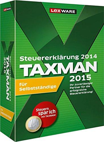 Preisvergleich Produktbild TAXMAN 2015 für Selbstständige,  DVD-ROM Steuererklärung 2014. Die professionelle Steuererklärung für Private und Selbstständige!. Einzelversion. Für Windows XP (ab SP3) / Vista (ab SP2) / 7 (jew. ab Version Home,  dt. Version),  Windows 8 (dt. Versi