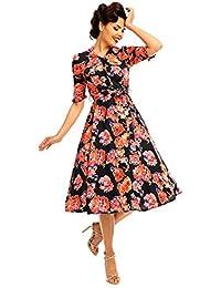 Schmetterling Drucken kleid Für Frauen Looking Glam Retro Vintage