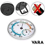 VARA Igometro di precisone, termometro analogico, misuratore della temperatura e umidità con 2 anni di garanzia soddisfatti o rimborsati