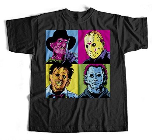 T-Shirt Horror Pop S-4XL Film Freddy Jason Leatherface Meyers Warhol Murder Kult