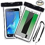 Yould [2 Pack] IPX8 Sac étanche Fluorescent Transparent, Appliquer à pour Nokia 920, Sony S/Sony SP/Sony V, Housse Imperméable Telephone (6''), Profondeur de 15m (Noir+Noir)