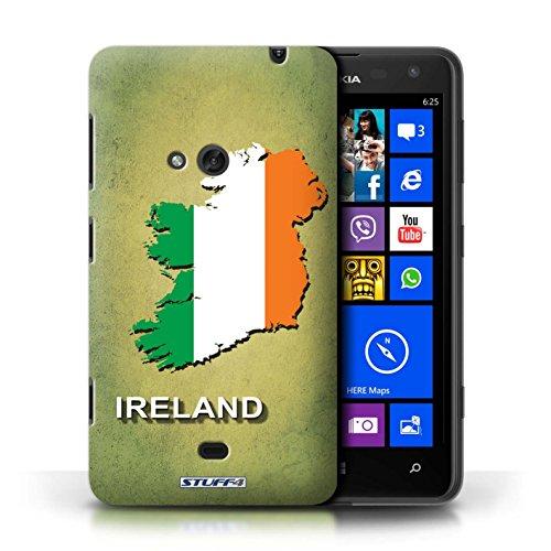 Kobalt® Imprimé Etui / Coque pour Nokia Lumia 625 / Afrique du Sud/Afrique conception / Série Drapeau Pays Irlande/irlandaise