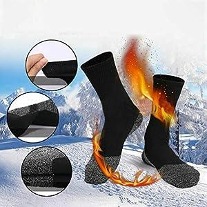 Auplew Winter Warme Socken 1 Paar Frauen Männer Aluminisierte Faser Thermische Lange Socken für Fitness Tennis Trekking Joggen