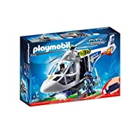 Playmobil 6921 City Action Police Helicopter with LED Lights, Multi-Colour