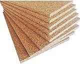 Sughero Biondo, Qualità Superiore, spessore 2 cm. densità maggiorata 175/180 Kg/mc, isolamento termico e acustico. (5 Pannelli)