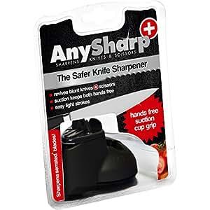 AnySharp Plus Knife & Scissor Sharpener, Black