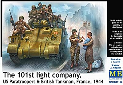 Master Box Ltd MB35164 - Figuren 101th light company, US paratroopers and British tankmen von Master Box Ltd (MAWKT)