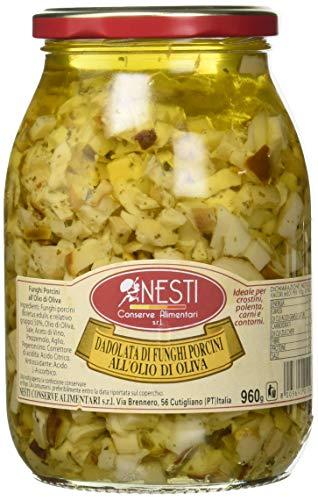 Nesti Conserve Alimentari Dadolata Funghi Porcini all' Olio di Oliva - Pacco da 6 X 960 g