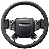 SEG Direct Pelle Microfibra Nero Coprivolante Copertura Volante Per Range Rover F-150 Tundra 39-40.5 cm