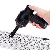 Richer-R Mini Portatile Aspirapolvere Tastiera Ricaricabile con Batteria Ricaricabile 2000mA, Facile e Comodo da Usare per Computer, Desktop, Tastiera e Borsa Cosmetica e Altro