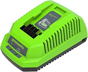 Greenworks Tools Battery Quick Charger G40c Li Ion 40 V 4 A 60 Min Charging Time With 2 Ah Battery Suitable For All Devices And Batteries Of The 40 V Greenworks Tools Series Baumarkt